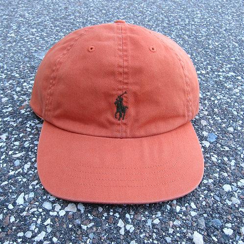 90s Polo Ralph Lauren Burnt Orange 6 Panel Hat