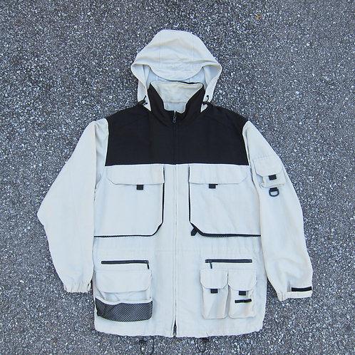 90s Eddie Bauer Oversized Cotton Tech Jacket - XXL