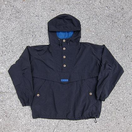 90s Columbia Sportswear Black Nylon Anorak - L