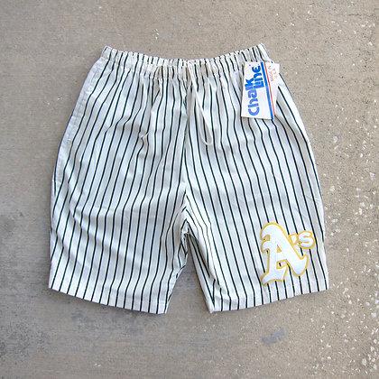 90s Oakland Athletics Chalk Line Baggy Shorts - L/XL