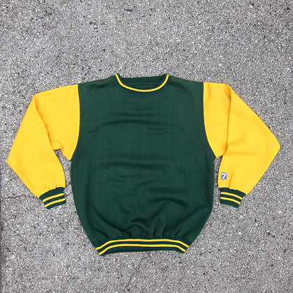 90s Logo 7 Green & Gold Crewneck - L