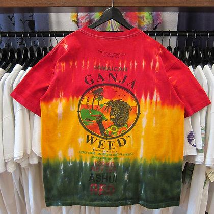 90s Tie Dye Jamaican Ganja Tee - XL