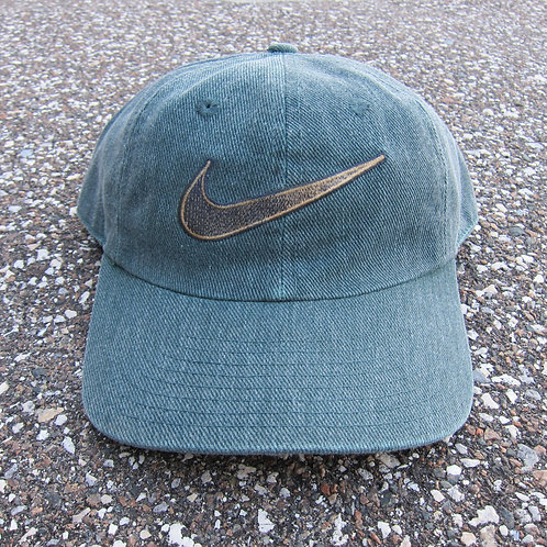 90s Nike Green Denim 6 Panel Hat