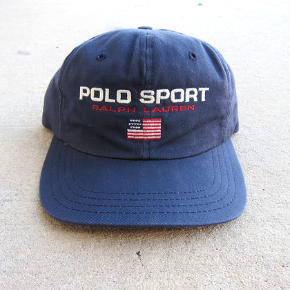 90s Polo Sport Navy Panel Hat