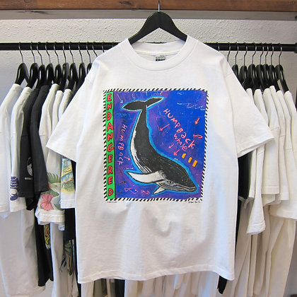 90's Humpback Whale Endangered Nature Tee - L/XL