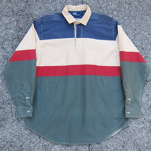 90s Polo Sportsman Colorblock Shirt - XL