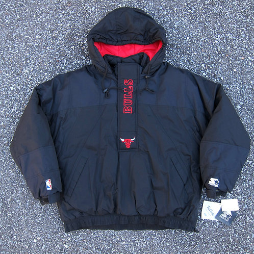 90s Chicago Bulls Starter Winter Jacket - XL
