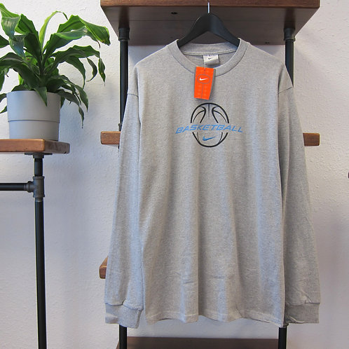 90s Nike Basketball Grey Long Sleeve Tee - M/L