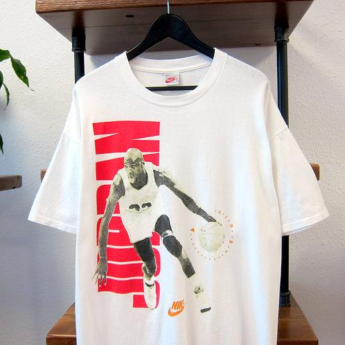 90s Nike Air Jordan White Graphic Tee - XL