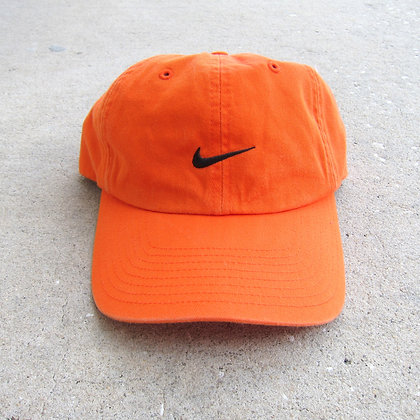 90s Nike Orange 6 Panel Hat