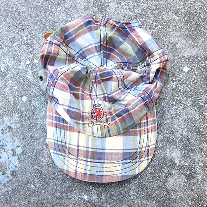 90s Tommy Hilfiger Plaid 6 Panel Hat