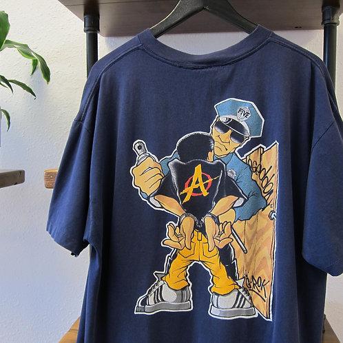 *Paint Splattered* 90s Armageddon Streetwear Tee - XL