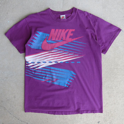 90s Nike Plum Abstract Graphic Tee - XL