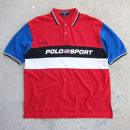 90s Polo Sport Colorblock Shirt - XL
