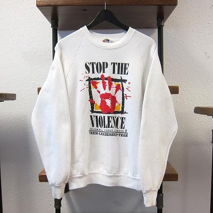 90s Stop The Voilence Crewneck - L