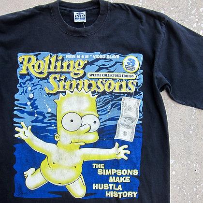 2000s Rolling Simpsons Bootleg Tee - 2XLT