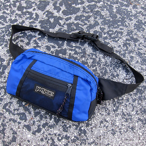 90s Jansport Royal Blue Nylon Waist Bag