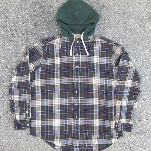 90s Polo Ralph Lauren Hooded Cotton Flannel - XL