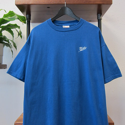 90s Nike Royal Blue EmbroideredTee - XL