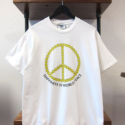 90's Happiness Is World Peace Tee - M/L