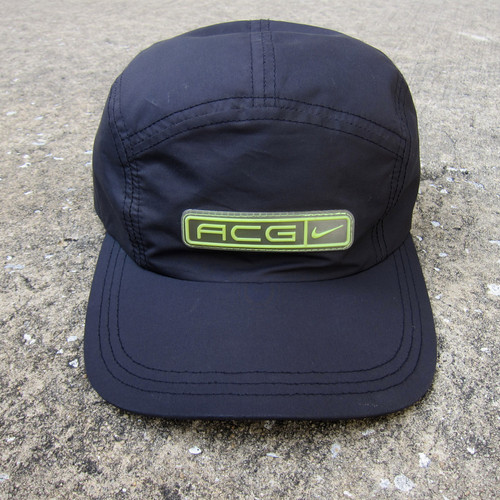 2c7e4179 90s Nike Acg Black & Volt 5 Panel Tech Hat