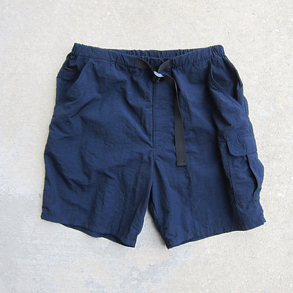 90s Navy Belted Nylon Water Shorts - M/L