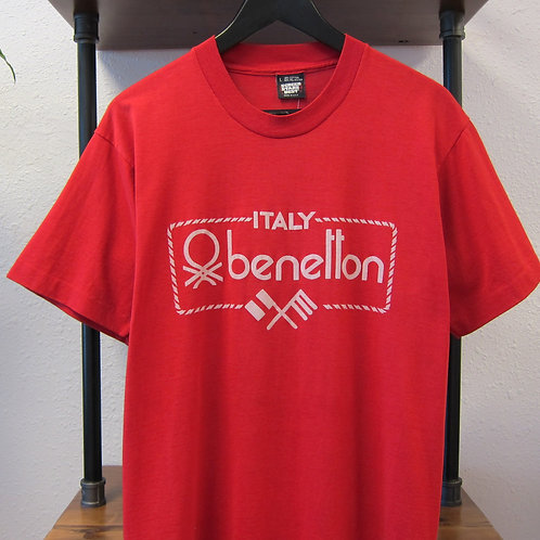 90s Bootleg Benetton Red Tee - M/L