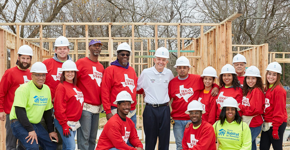 Building homes with Habitat for Humanity.