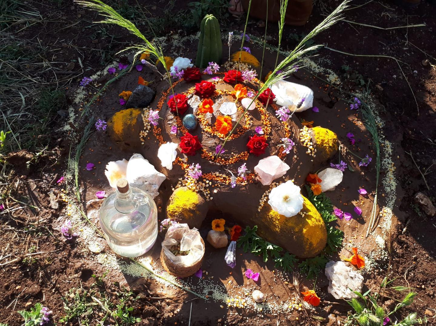 Temazcal altar