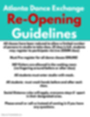 reopening guidelines - Made with PosterM