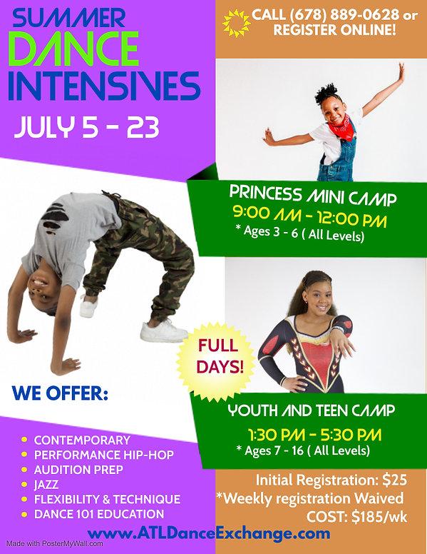 NEW updates summer dance intensive flyer