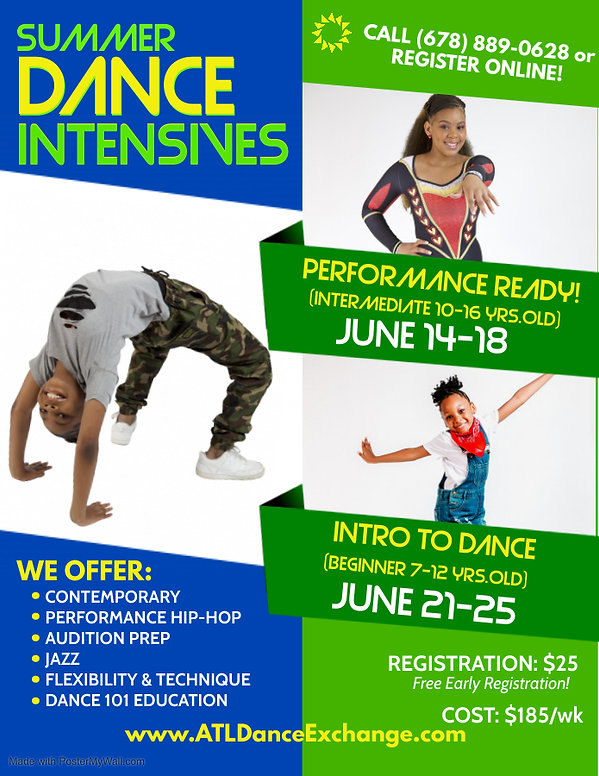 yda summer intensives - Made with Poster