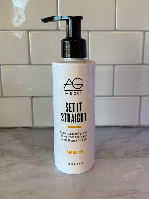 AG Hair Smooth Set It Straight Argan Straightening Lotion