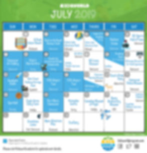 Kidsworld Green July 2019 Updated Calend