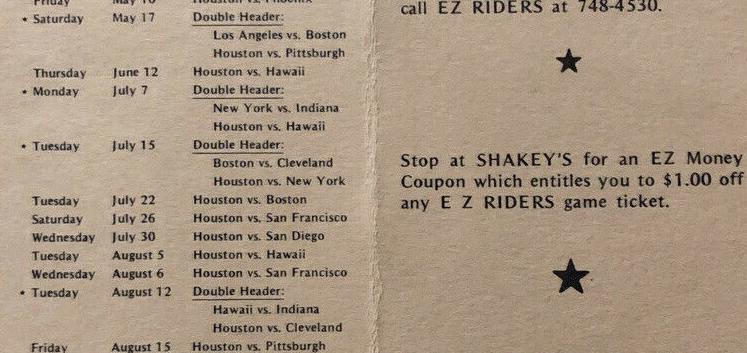 EZ Riders Program 1975