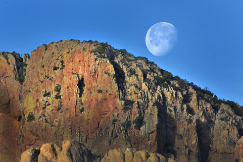 Moonset Over the Cliff