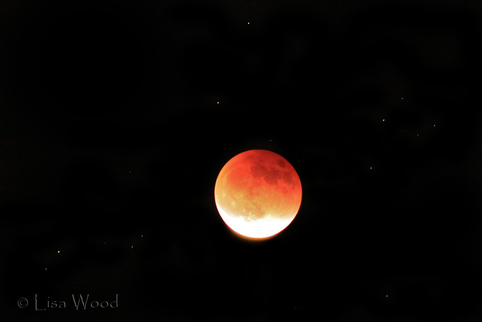Super Blood Moon and Stars