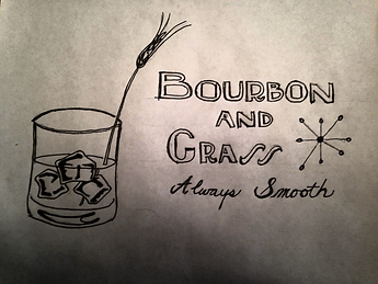 Bourbon & Grass Logo