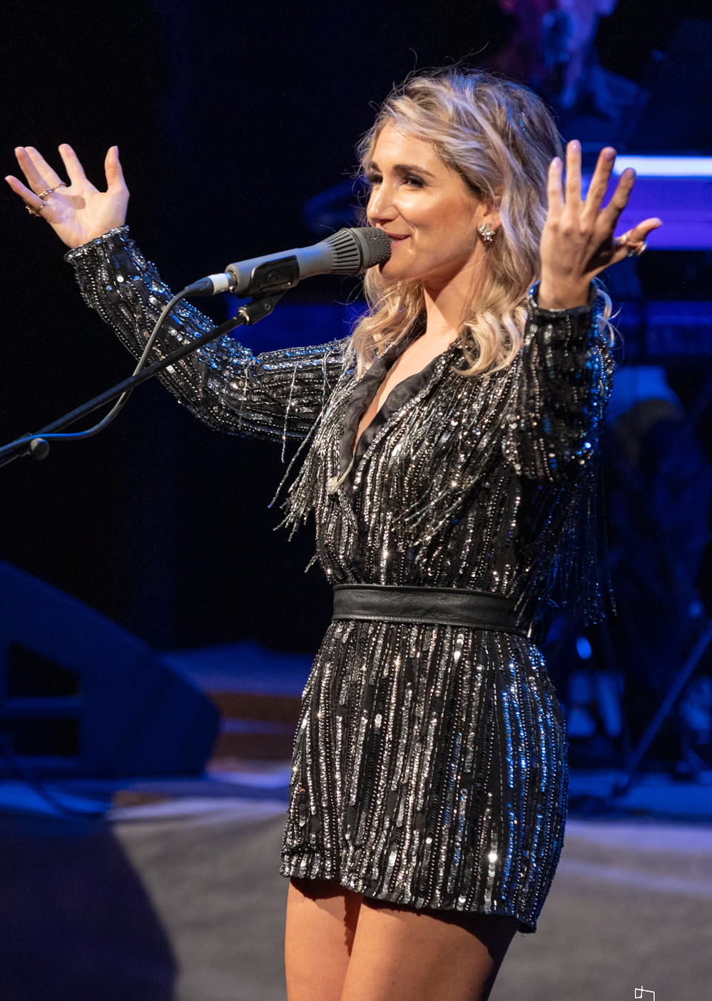Jody Direen perfoming on stage at the New Zealand Country Music Awards in Gore. Jody Direen performed alongside Tammie Neilson and others as a finalist for Best Country Artist of the Year Tui Award.