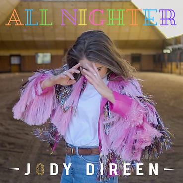 Jody Direen All Nighter Single Cover Country Pop Artist Kaylee Bell