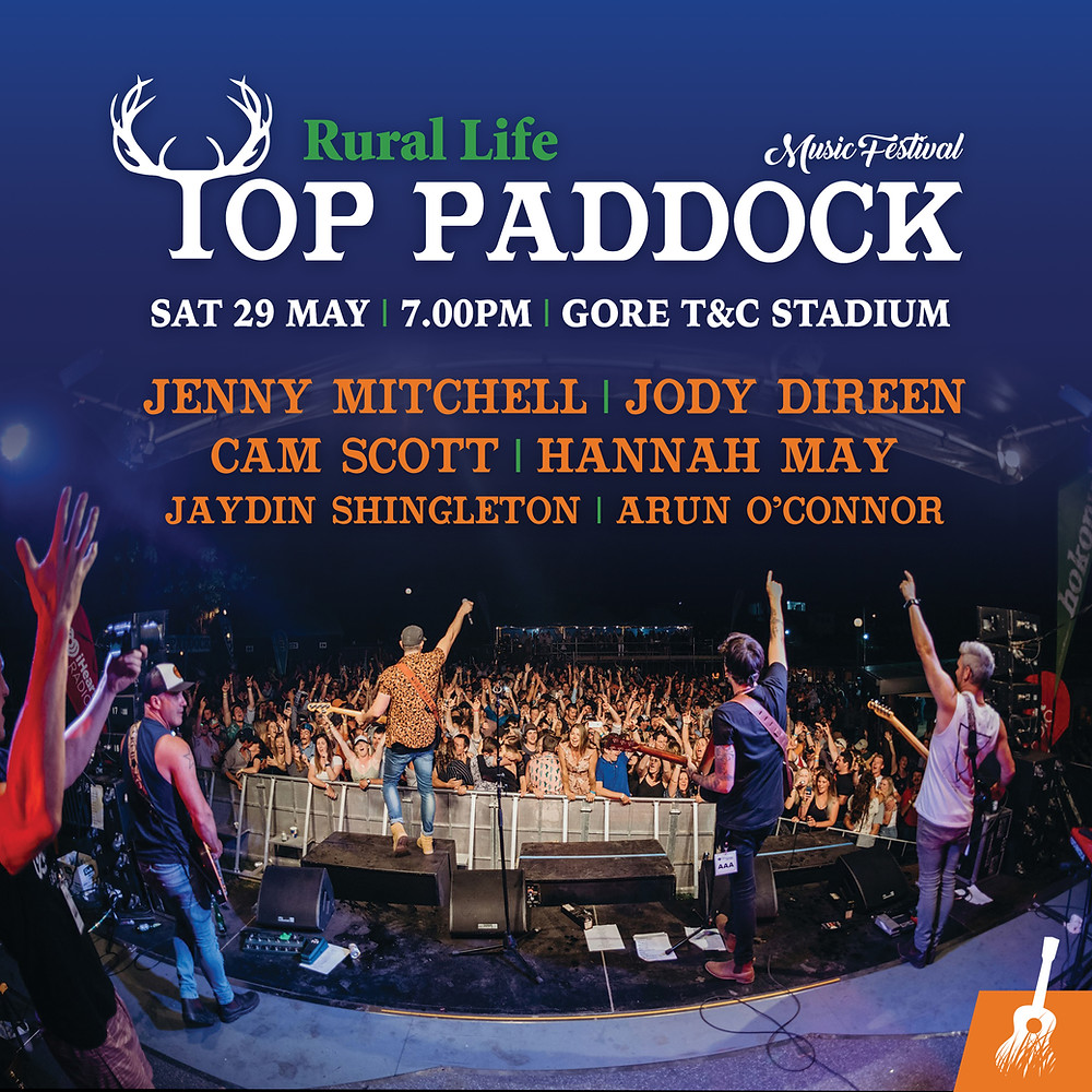 Top Paddock Music Festival Artist Line Up Gore Stadium 2021