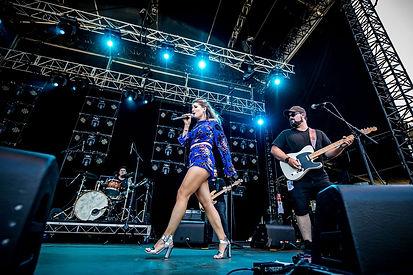Jody Direen performing at CMC Rocks Queensland Australia Country Pop Music Festival Kelsea Ballerini