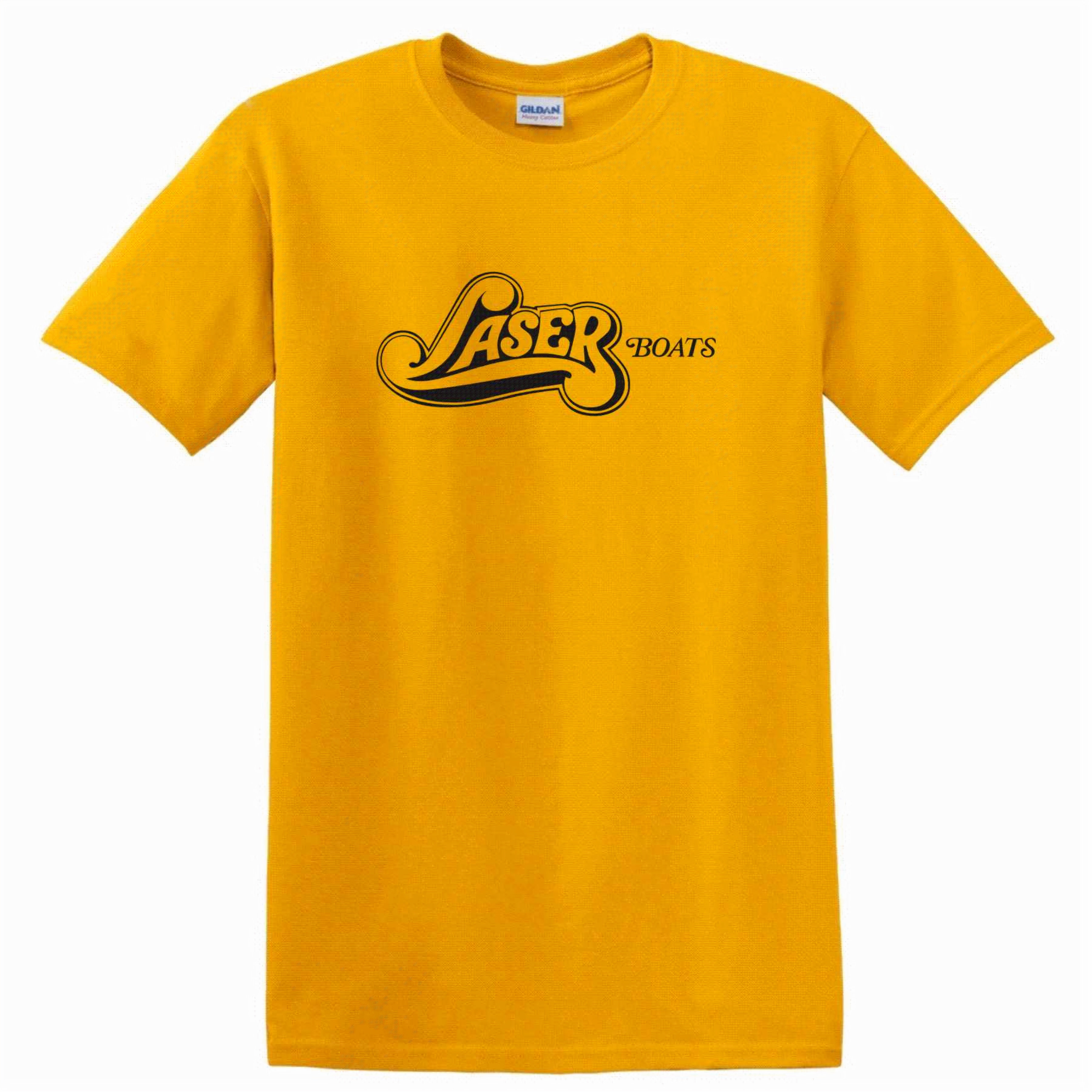 Laser Boats Short Sleeve Tshirt Gold 2x 3x 4x Website