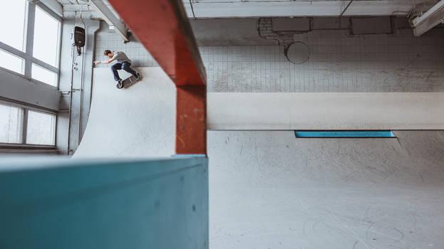 I do skateboarding