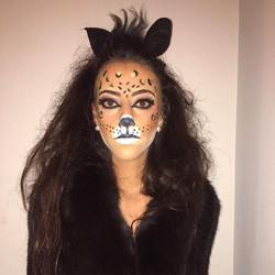 Maquillaje para halloween 🐯#leopard #leopardmakeup #halloweenmakeupideas