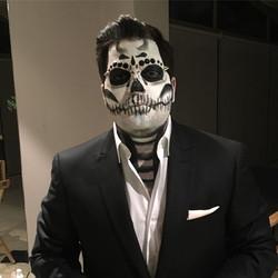 Mi favorito 💖💀 #skullmakeup #creativemakeup #blingbling #lovinghalloweenmakeups #halloweenmakeupid