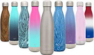 Simple Modern Stainless Steel Vacuum Insulated Double-Walled Wave Bottle, 17oz - Simple Stainless