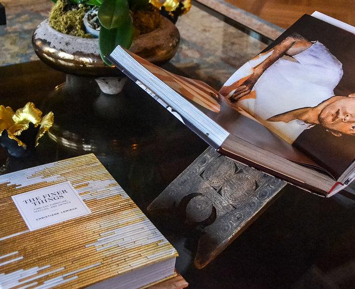 Jennie Schmid Design, Interior Design, Designer, Switzerland, Lausanne, Villa, Portfolio, Book stand from Africa