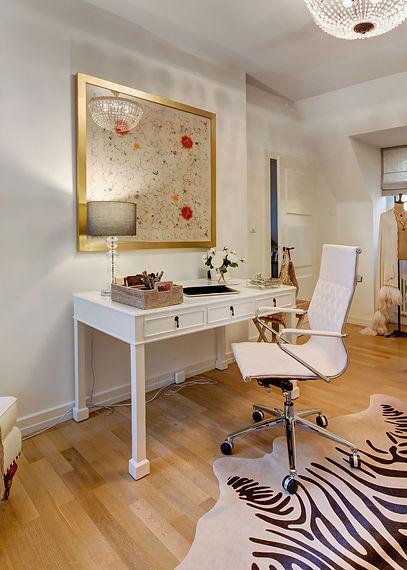 Jennie Schmid Design, Interior Design, Designer, Switzerland, Lausanne, Villa, Portfolio, home office, study, desk, zebra