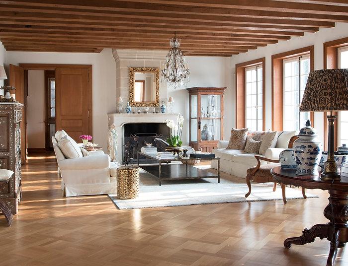 Jennie Schmid Design, Interior Design, Designer, Switzerland, Lausanne, Villa, Portfolio,Shane was a re-lamp and the cat shade by Oka direct